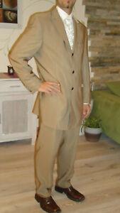 Hochzeitsanzug Anzug mit Hemd und Weste cappucino hellbraun Wilvorst Gr. 48