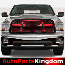 09-12 Dodge RAM 1500 Big Horn Black+RED Front Packaged Grille+Shell Replacement