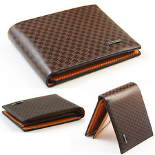 Hot Stylish Men's PU Leather Wallet Pocket Card Clutch Bifold Purse Business New