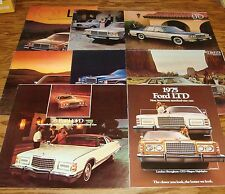 Original 1975-1981 Ford LTD Crown Sales Brochure Lot of 8 76 77 78 79 80