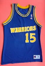 Nba Usa Warriors #15 Sprewell Vintage Champion Authentic Athletic Apparel