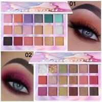 18 Colors Eyeshadow Palette Pigmented Matte Shimmer Metallic Eye Shadows Makeup