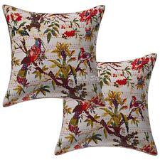 "Ethnic Kantha Pillow Cushion Cover Indian Home Decor Pillowcase Throw Pair 16"""