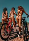 """Cycling Girls 24""""x33"""" Canvas Art Paintings Poster Wall Prints Decor"""