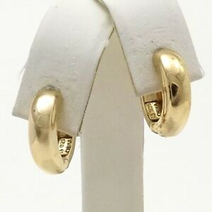 Gold Vermeil Sterling Silver Thick Puffy Huggie Hoop Earrings