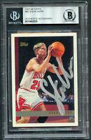 Steve Kerr #80 signed autograph auto 1997-98 Topps Basketball Card BAS Slabbed