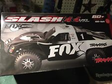 Traxxas Slash 4x4 Fox Brushless Vehicle And Controller Battery &Charger Not Incl