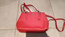 Genuine New Coach Red Pebble Leather Small Shoulder Satchel