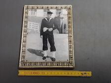 Ancien cadre en bois photo de marin annés 1950 french antique frame
