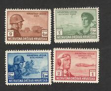 WWII-CROATIA-NDH- MNH-PERFORATED SET-LEGIONARI-1943