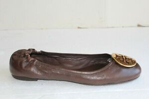 Tory Burch Women's Flats Brown Leather Shoes. US Size 8.5 M.