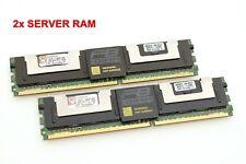 2x Kingston KTD-WS667/8G (2x4GB=8GB) DDR2-667 PC2-5300F 2Rx4 ECC FB-DIMM #710369