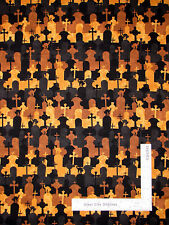 Halloween Tomb Stone Graveyard Cotton Fabric Wilmington Come Sit A Spell - Yard