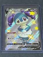 Indeedee V - SV114/SV122 - Shiny Holo Rare Pokemon TCG Shining Fates