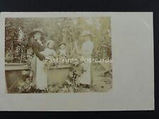 England HOP PICKING / PICKERS Field Portrait (2) Early RP Postcard