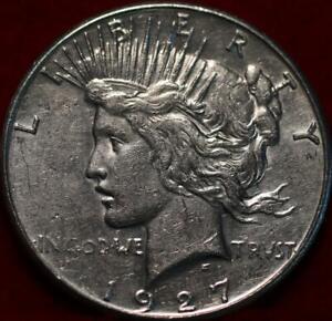 Uncirculated 1927-S San Francisco Mint Silver Peace Dollar