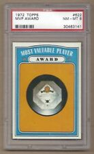 1972 72 Topps #622 MOST VALUABLE PLAYER MVP M.V.P. AWARD PSA 8 NM-MT