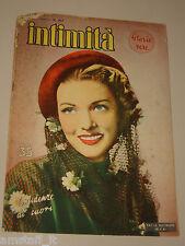 INTIMITA rivista 1 1951 n. 297 =PAULA RAYMOND cover magazine =