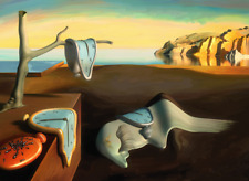 Salvador Dali The Persistence Of Memory Famous Art Print Silk Poster 24x36Inch