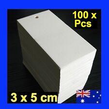 100 x White Swing Tags Gift Wedding Bomboniere Garment Label Gun 3 x5cm