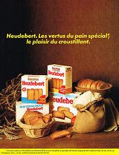 PUBLICITE ADVERTISING 114  1981  HEUDEBERT  biscottes pain grillé