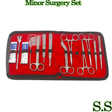 18 pcs Minor Surgery Set Surgical Instruments Kit Stainless Steel with Case