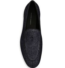 NEW Giuseppe Zanotti Embellished Suede Loafers - Size 41.5 (US: 8.5) - MSRP $825