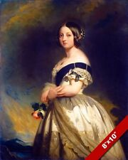 QUEEN VICTORIA OF GREAT BRITAIN UNITED KINGDOM PAINTING ART REAL CANVAS PRINT