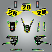 Kawasaki KX 85 1998 - 2013 Full custom graphics kit SUNRISE Style sticker kit
