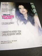 SELENA GOMEZ is a BB Woman In Music 2015 PROMO POSTER AD mint condition