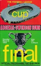 Swindon Town League Cup Home Team Final Football Programmes