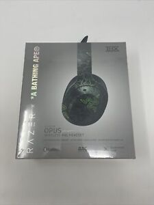 A Bathing Ape X Razer Limited Edition Green Camo Headset IN HAND