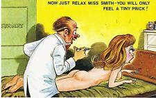 Vintage 1970's Bamforth COMIC Postcard (as new condition) small prick #480