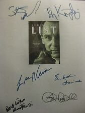 Schindlers List Signed Script X6 Liam Neeson Ben Kingsley Raply Fiennes reprint