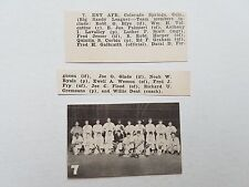 ENT Air Force Base AFB Colorado Springs 1951 Baseball Team Picture RARE!