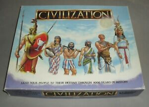 Civilization Strategy Board Game Gibsons Games 1988 COMPLETE VGC RARE