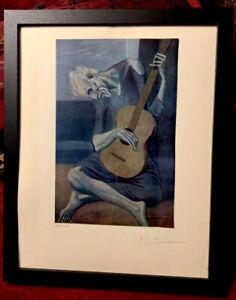 Pablo Picasso 1954 Original Print Hand Signed By Picasso, with COA, New Frame
