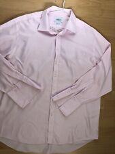 "charles tyrwhitt Shirt Pink Long Sleeve 19"" Collar, 48"" Chest Double Cuff"