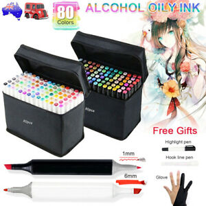 80 Colours Dual Heads Artist Five Sketch Pens kit Copic Touch Markers Pen Set