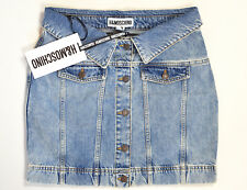 H&M Moschino Denim Skirt With Buttons Size 8 (40) NWT Jeremy Scott