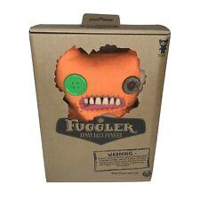 """Fuggler Funny Ugly 9"""" Orange Button Eyed Plush Monster - S3"""