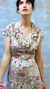 NANCY MAC RITA DRESS IN BLUSH SILK/COTTON size RRP£199