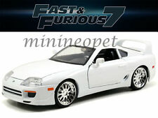 JADA 97509 THE FAST AND FURIOUS BRIAN'S TOYOTA SUPRA 1/18 DIECAST CAR WHITE