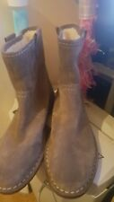 Clarks Cabaret Rock Taupe Suede warmed Ladies ankle boots in sizes 6 , 5.5 and 8