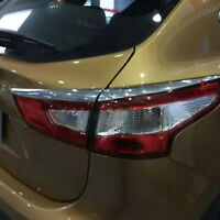For Nissan Qashqai 2015 2016 2017 Chrome Rear Tail Light Lamp Eyelids Cover Trim
