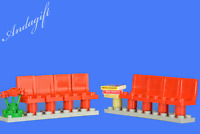 LEGO waiting area train bus airport hotel doctor hospital station seats chairs