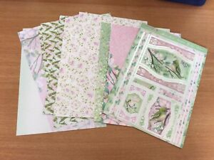 Hunkydory Topper Set Birdie Blossoms Includes 2 Inserts,6 Backing Papers
