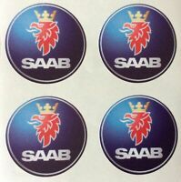 4x 60 mm fits saab wheel STICKERS center badge centre trim cap hub alloy
