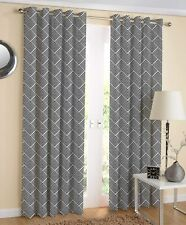 100% Cotton Designer Printed 7ft Door Curtains, (Black &White Colors) Pack of 2