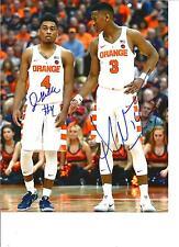 John Gillon/ Andrew White dual autographed 8x10 photo Syracuse Orange!! w/COA
